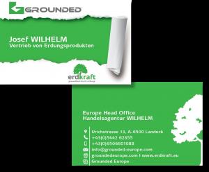 Visitenkarte Von Grounded Und Erdkraft Werbeagentur Pemotion