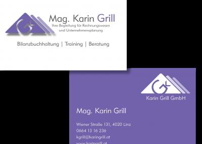 Visitenkarte Karin Grill