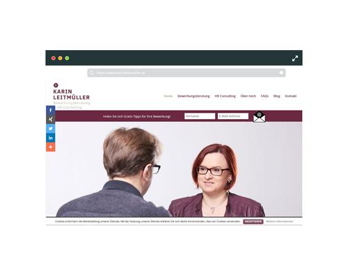 Webseite Karin Leitmüller