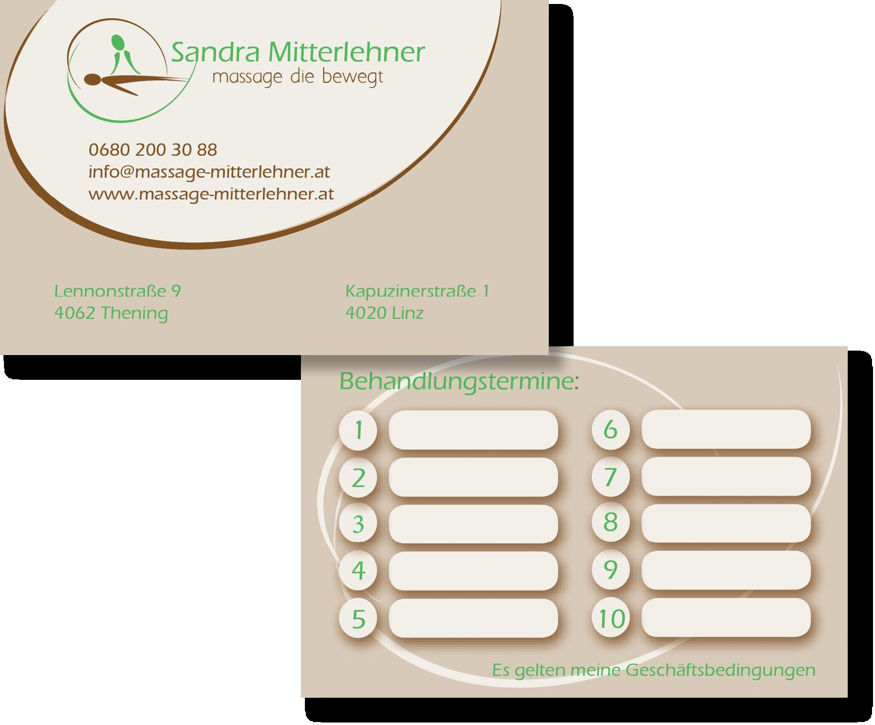 Visitenkarte Sandra Mitterlehner