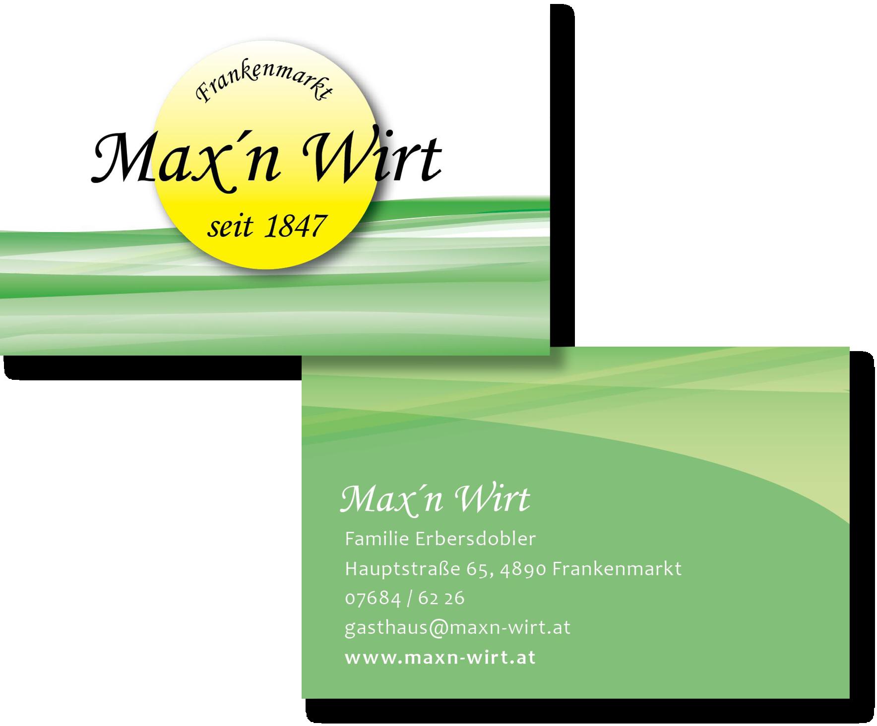 Visitenkarte Maxn Wirt