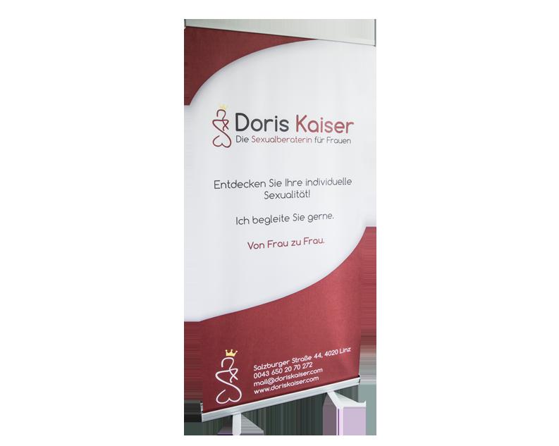 Rollup Gestaltung für Doris Kaiser von Ronald Lengyel Werbeagentur pemotion